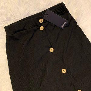 Black midi skirt from nasty gal